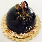 """""""Palla"""" ai 3 cioccolati con lamponi ed oro!!"""