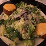 Crab cakes L& Caesar (with anchovies) at Jack's