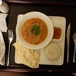 Indian curry-rice (in-room dining), good taste!