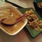 Seafood Miso Soup and the Avocado Salad