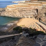 The beach and funicular