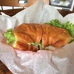 Turkey and Gouda sandwich on Croissant
