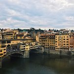 The view of the Ponte Vecchio and Arno from the room.