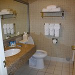 Towels/Amenities neatly arranged.