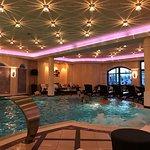 Pool, restaurant, room