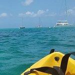 kayaking off Le Beach