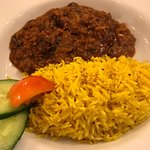 Chilli beef and rice, very tasty with just the right amount of kick!
