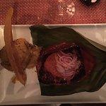 Salmon w/plantain mash