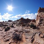 At the top of the South Coyote Buttes