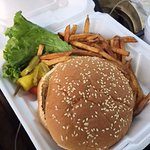 Barn Burger and Fries