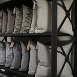 We keep an ever-changing inventory of down filled pillows