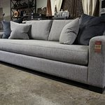 This contemporary bench seat sofa comes in three lengths and hundreds of fabrics!