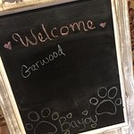 Garwood is welcomed upon our arrival at the Carmel Country Inn