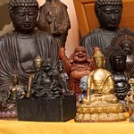 Sangha members brought their buddha status from home for an Eye Opening Ceremony at the temple.