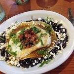 huevos rancheros w/fresh jalepenos per my request--yum