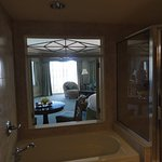 View of Room Through Shutters from Jacuzzi Tub