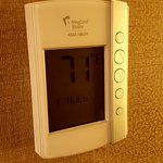 A picture of the King Suite modern thermostat.