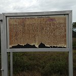 One of the weathered information panel