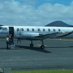 Sharp Airlines run an excellent service to the island. Cabin Park just around the corner.