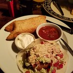 Crispy Combination Plate - Chicken Chimichango and Fish Taco