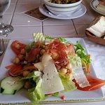 Mediterranean salad, fresh ingredients