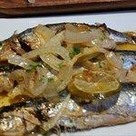 Sardines with azafran sauce
