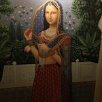 Indian 'Monda Lisa' in the hallway outside our room :)