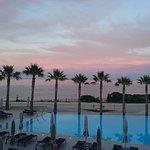 View across pool