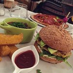Hamburger végétarien avec pain sans gluten
