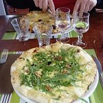 Les pizzas Bergère blanche et 4 fromages