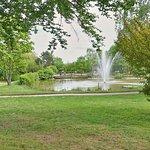 Blick in den  Ernst-Wagner-Park - der  liegt direkt neben dem Hotel