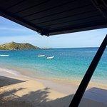 View of beach from restaurant/bar.