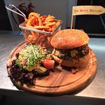 The messy Mexican beef burger