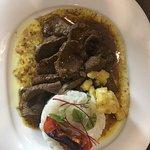 """Nouveau menu improvisé """"saveur Mauricienne"""" au top. Merci au chef d'être venu nous saluer!!"""