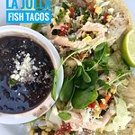 mahi fish tacos with black beans