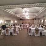 The Banqueting suite set out ready for our wedding breakfast.