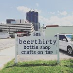 BEERTHIRTY is footsteps away from the Mariott in downtown Greensboro.