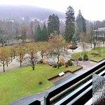 Winterlicher Blick auf einen Teil des Kurparks von Bad Orb