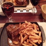 500gr of special local  steak with local beer.