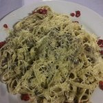 This is the fettucine alfredo style pasta that I had for my dish