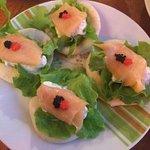 Salmon Bites dish