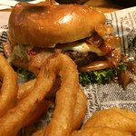 Brickhouse Burger with Onion Rings