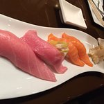 Number 1 Toro (Tuna Belly) and Salmon Sushi