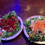 The Baby Burnside salad and Mikes House salad.