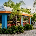 The gazebo has a full kitchen and gas grill for the exclusive use of our guests.