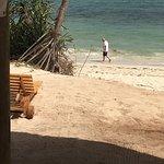 White clean sand no crowds