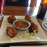 Great conch fritters and local beer!