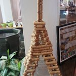 Tower de Eiffel made of corks.