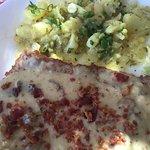 Schnitzel ala Natural with german potato salad