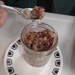 Baked Oatmeal in a jar! With berries and cream